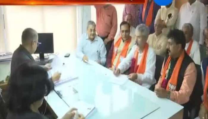 both bjp candidate file nomination form for rajysabha election