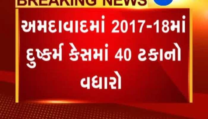 Gandhinagar 40% Increase Of Rape Case In Ahmedabad