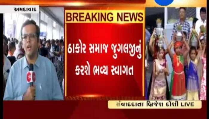 Thakor Samaj Enthusiastic about Jugalji Thakor's Ahmedabad Visit