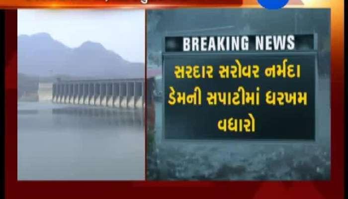 Water level reached 121.96 meter of of the Sardar Sarovar Dam
