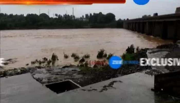Tapi: Dosavada Dam Overlows Due To Heavy Rain