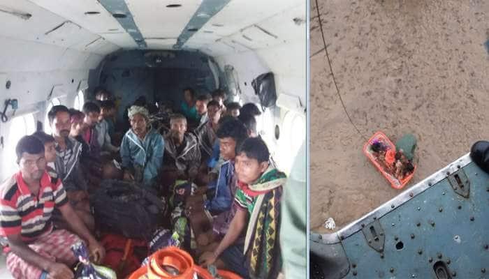 નવસારીમાં પૂરની સ્થિતિ : 29 લોકોને એરલિફ્ટ કરાયા, બોટ પલટી જતા NDRFના જવાન અને સ્થાનિક પાણીમાં તણાયા