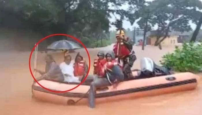 VIDEO: પૂરમાં ફસાઈ ગયા કોંગ્રેસના આ દિગ્ગજ નેતા, બોટથી રેસ્ક્યુ કરાયા