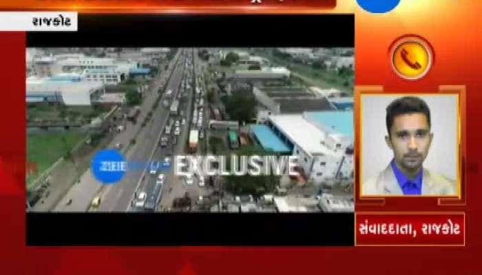 Rajkot: Traffic Jam Near Gondal Chokdi