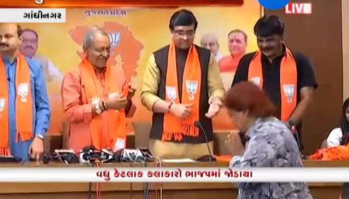Artists From North Gujarat Join BJP