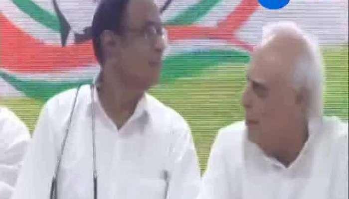 Chidambaram appears at Congress HQ