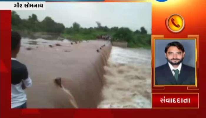Gir Somnath: Heavy Rains Cause Flood In Shahi River