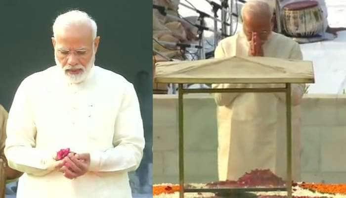 PM મોદીએ રાજઘાટ જઈને મહાત્મા ગાંધીજી અને વિજય ઘાટ પર શાસ્ત્રીજીને આપી શ્રદ્ધાંજલિ