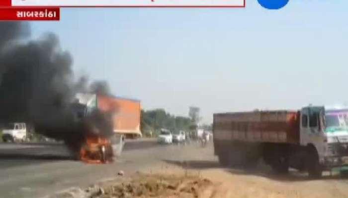 Car fire at Pratij