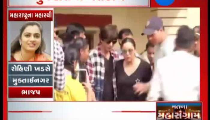 Superstar Shah Rukh Khan voted with his wife