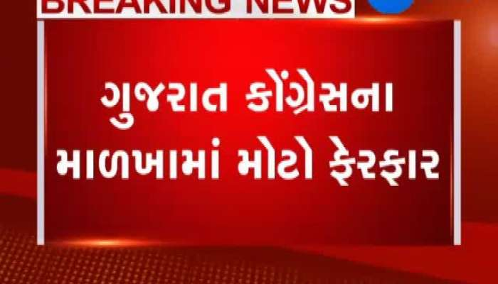 Big change in the structure of Gujarat Congress