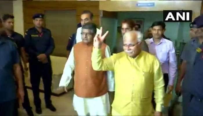 હરિયાણા: મનોહરલાલ ખટ્ટર BJP વિધાયક દળના નેતા તરીકે ચૂંટાયા, કાલે CM પદના લેશે શપથ