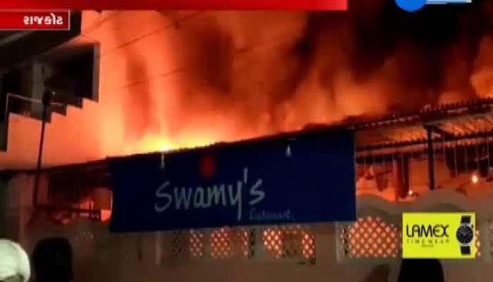 fire broke out on Sadhu vasvani road hotel swami dhosa house