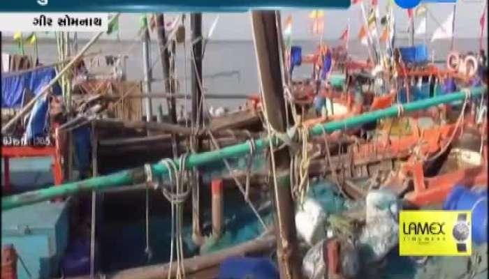 Gir Somnath Fishermen Privation Due To Maha Cyclone
