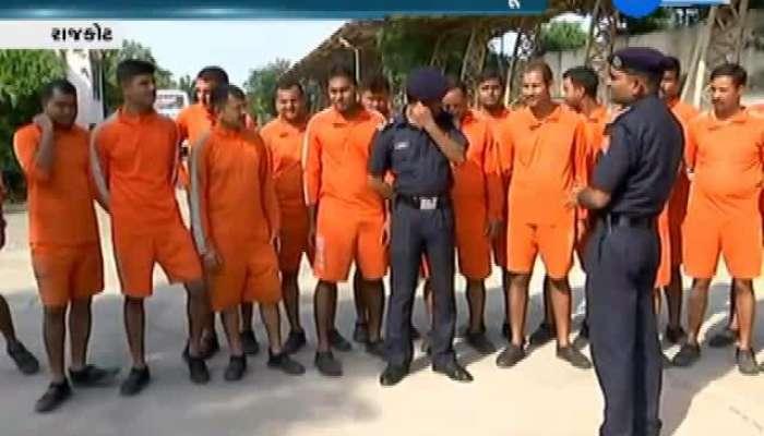 Rajkot NDRF team standby