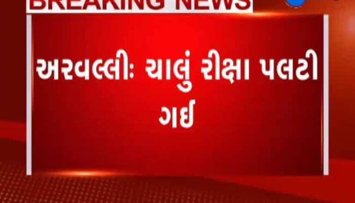 Auto Rickshaw Was Overthrown In Aravalli