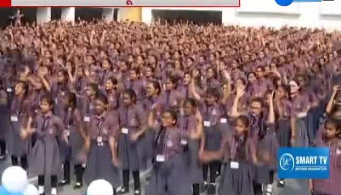Students create a world record by dancing to the theme of Save Girl Educated Girl