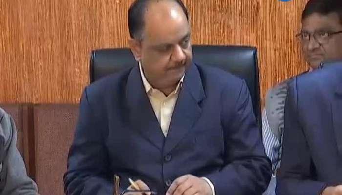 Press conference of Nitin Patel