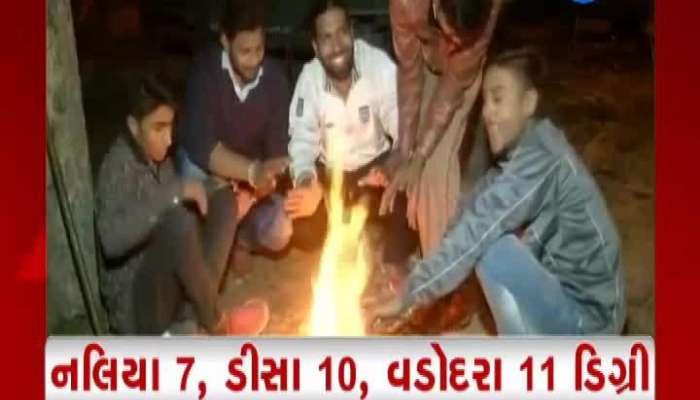 cold wave in gujarat watch video