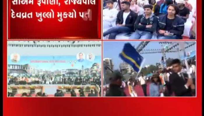 Governor Acharya Devvrat Addressing At Inertnational Kite Festival 2020 In Ahmedabad