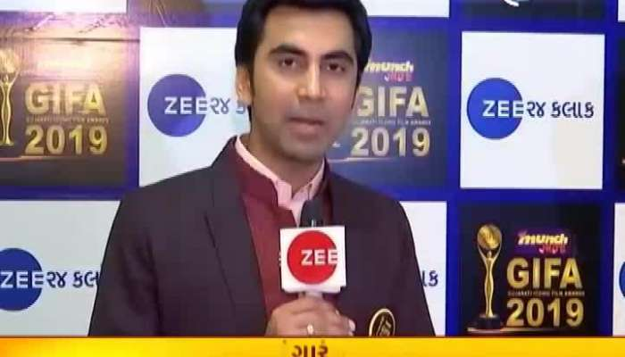 Special Talk With Gujarati Artists From Zee 24 Kalak On Red Carpet Of GIFA 2019 Awards