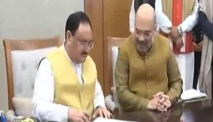 JP Nadda Addressed From Delhi BJP Office