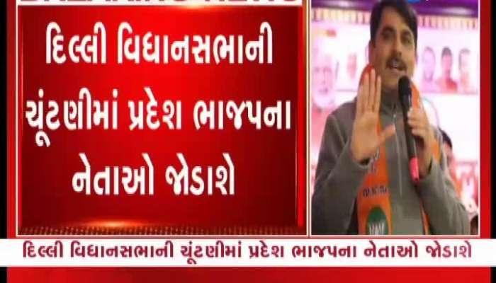 BJP leaders including cm rupani, nitin patel jitu vaghani address public meetings in delhi zee 24 kalak