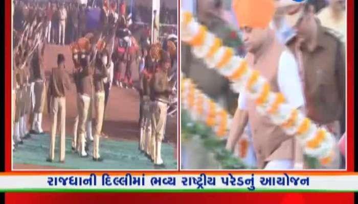 Dy CM Nitin Patel celebrates Republic Day at Dabhoi says Gujarat is ahead of everyone watch video zee 24 kalak