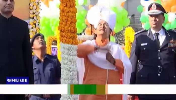 71th republic day city level celebration in nikol ahmedabad watch video zee 24 kalak