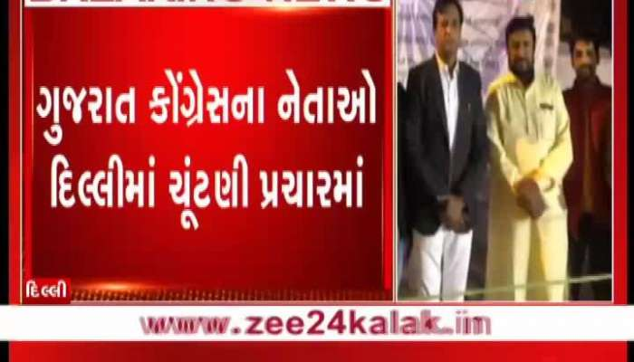 Gujarat congress's leaders will be star speaker in Delhi election