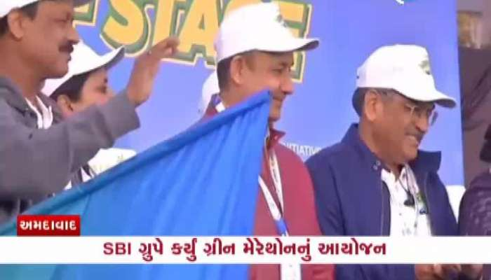 green marathon held at Ahmedabad riverfront by SBI group