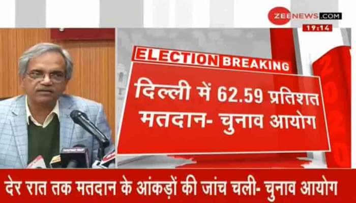 દિલ્હીમાં 62.59 ટકા મતદાન, ચૂંટણી પંચે જણાવ્યું આ કારણથી લાગ્યો આટલો સમય