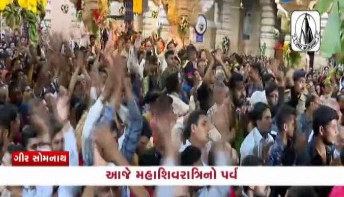 Watch Video Of Somnath Temple Maha Aarti On Mahashivratri