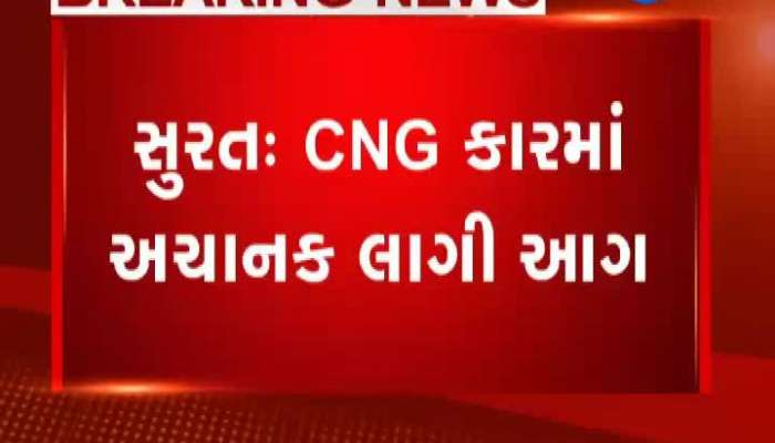 fire in CNG car and It raid at kuberji group in surat