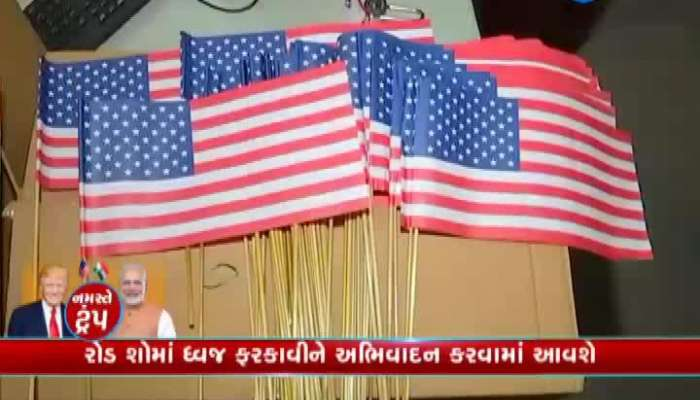 Flag Of Both Countries Will Be Greeted At Modi And Trump Roadshow