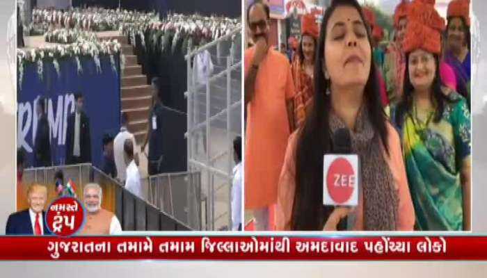 people across the country and world reach to motera stadium watch video on zee 24 kalak