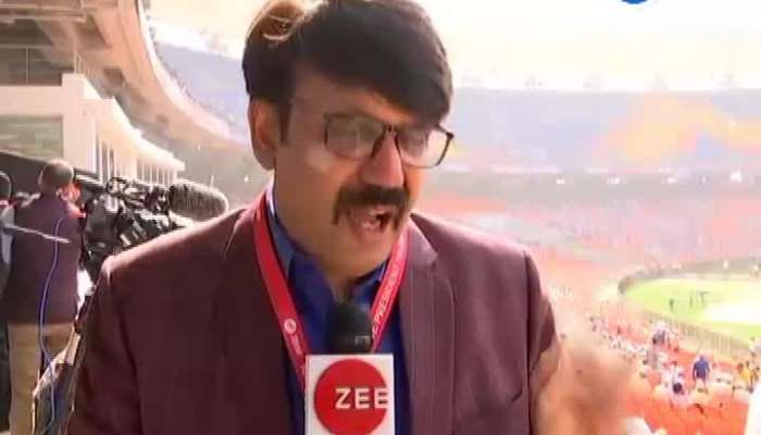 zee 24 kalak editor dixit soni live from motera stadium watch video