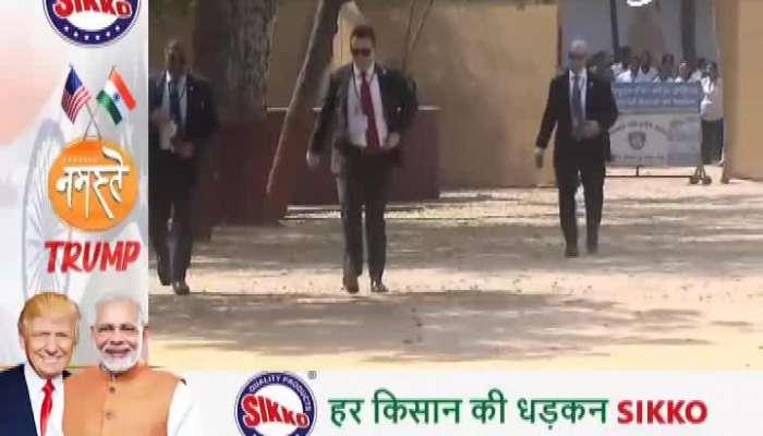 Donald trump visits gandhiashram watch video on zee 24 kalak