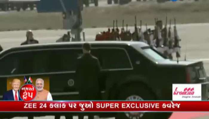 US President Donald Trump Departs From Ahmedabad To Agra