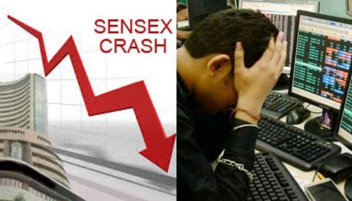ઉંધા માથે પટકાયું શેર બજાર, 2008 બાદ સેન્સેક્સમાં સૌથી મોટો કડાકો