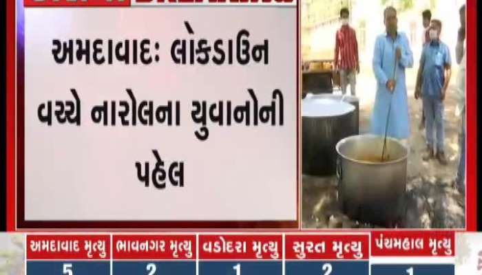 Ahmedabad narol youth distribute food to the people