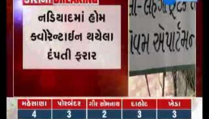 home quarantine couple left home in nadiad, team search operation start