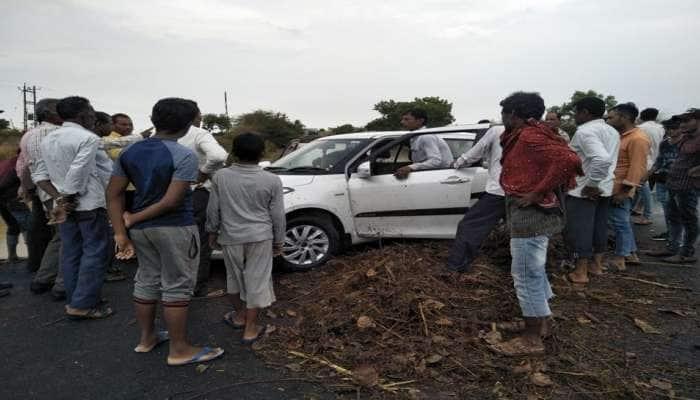 લાલપુર નજીક નદીના પાણીના પ્રવાહમાં કાર સાથે ત્રણ લોકો તણાયા, એકનું મૃત્યુ