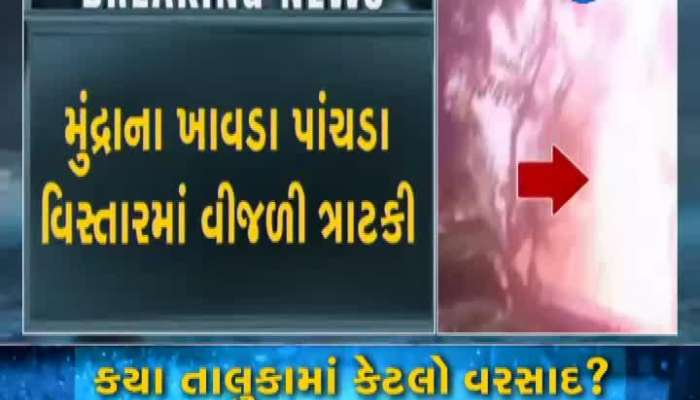 Kutch: Scenes of lightning strikes on trees in Mandra area captured on mobile