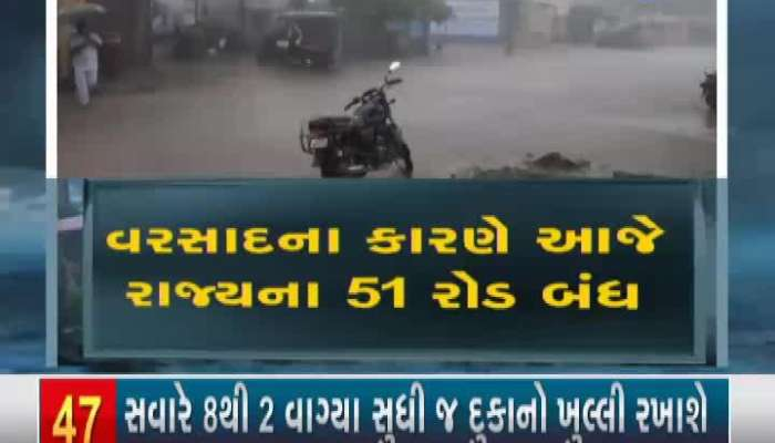 10 state highways closed due to rains