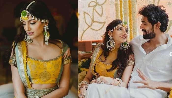 બાહુબલી ફેમ એક્ટર રાણા દગ્ગુબાતી અને મિહિકા બજાજની હલ્દી વિધી, જુઓ Inside Pics...