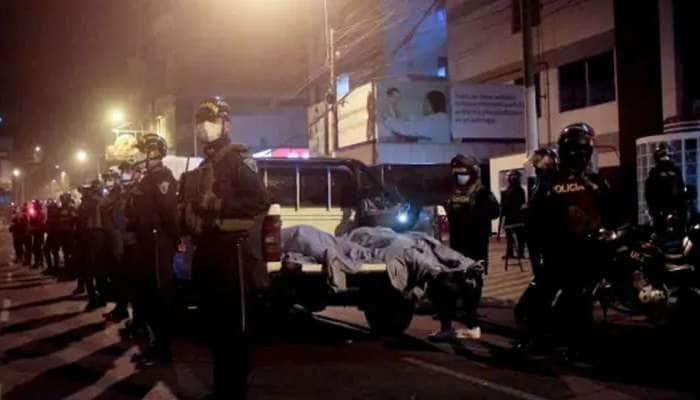 પેરૂઃ લૉકડાઉન વચ્ચે નાઇટ ક્લબમાં પોલીસના દરોડા, ભાગદોડમાં 13 લોકોના મોત