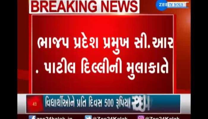 cr patil may discussion on gujarat bjp new committee in delhi meeting
