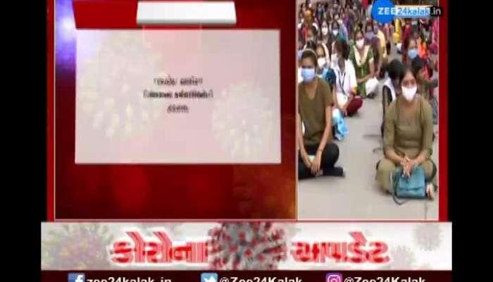Health Department Workers Strike In Rajkot
