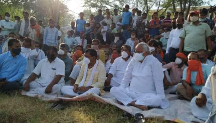 પૂજારીને જીવતો સળગાવી દેવાયો, ગામમાં ધરણા પર બેઠા BJP સાંસદ કિરોડીલાલ મીણા